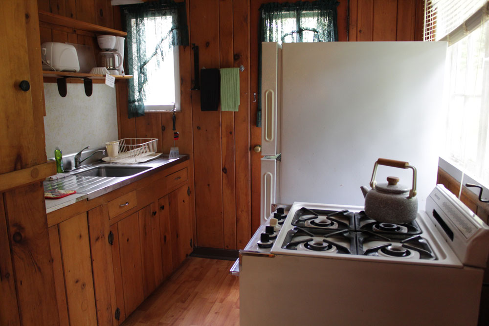small kitchen with stove and sink