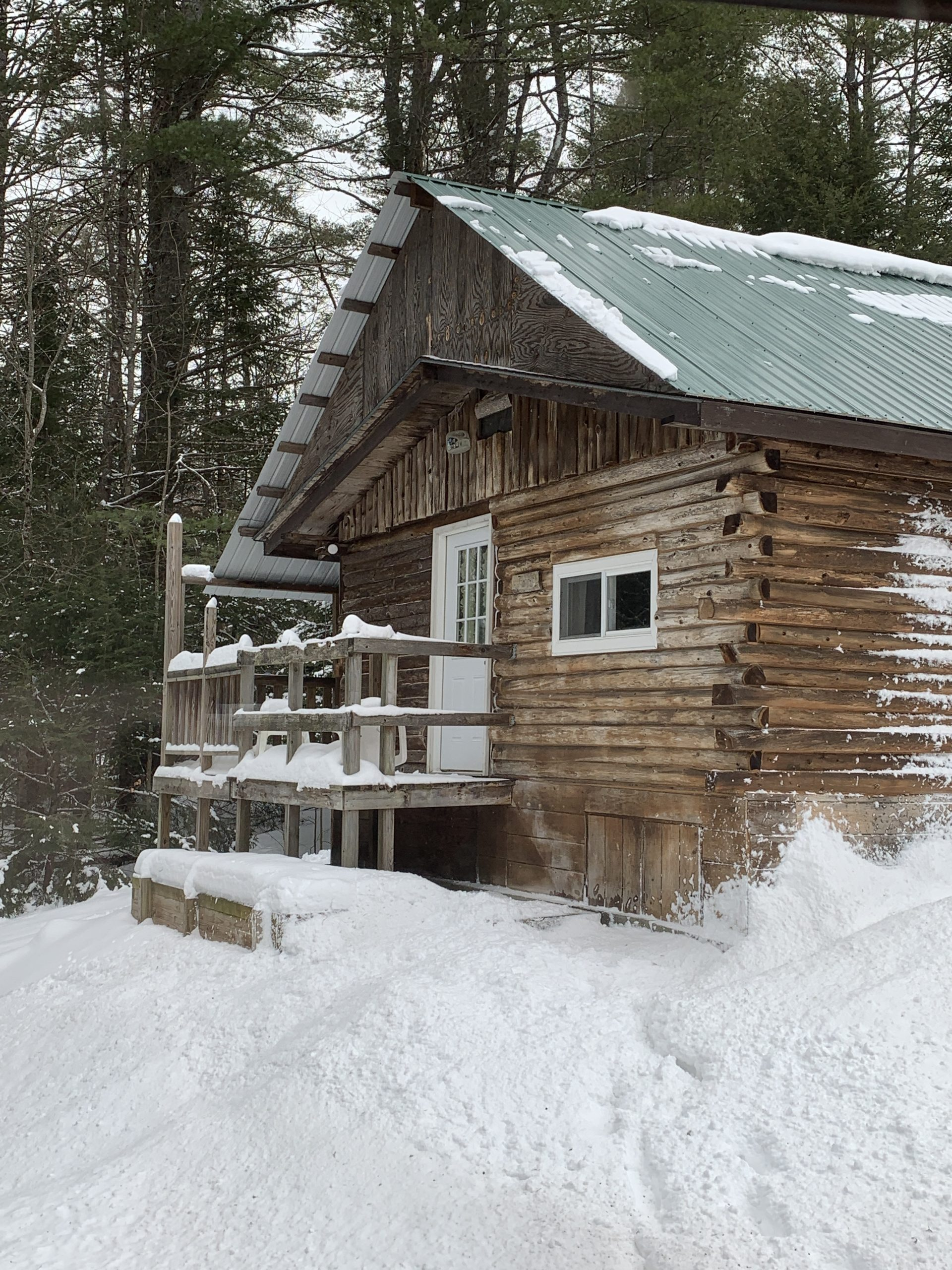 Cabin During Winter
