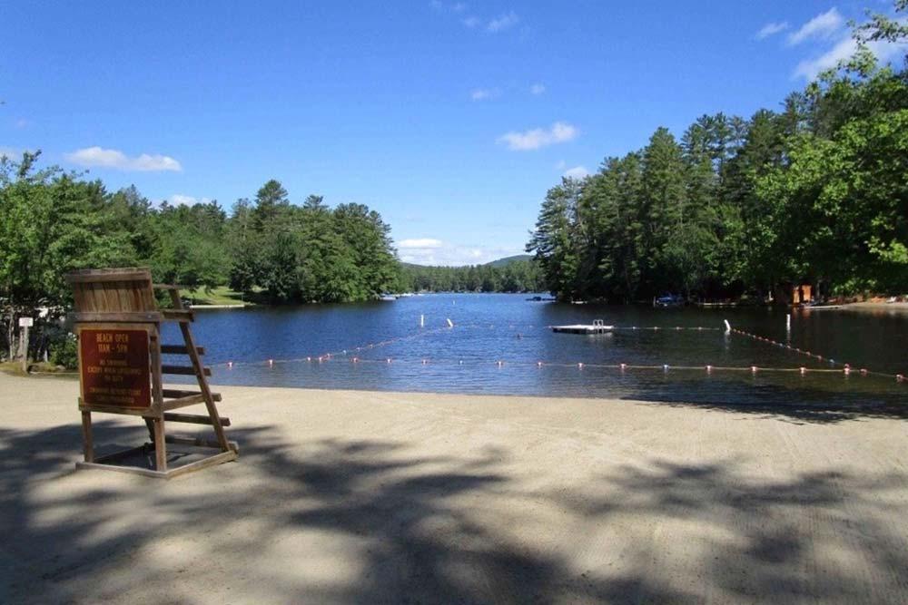 Lake beach area